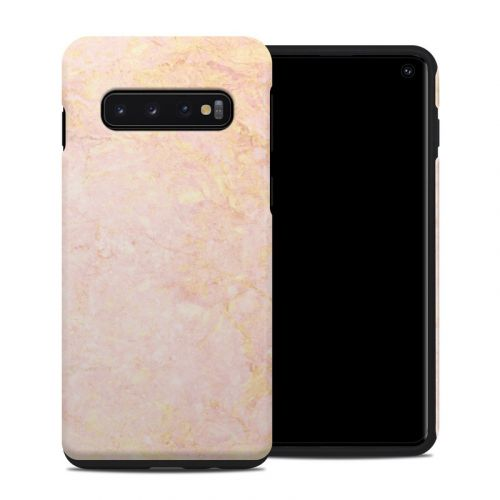 Rose Gold Marble Samsung Galaxy S10 Hybrid Case