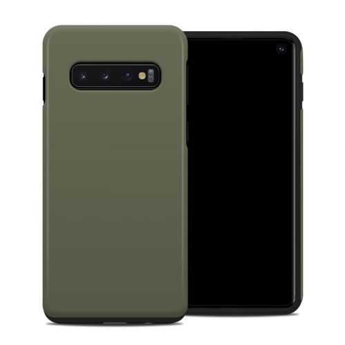 Solid State Olive Drab Samsung Galaxy S10 Hybrid Case