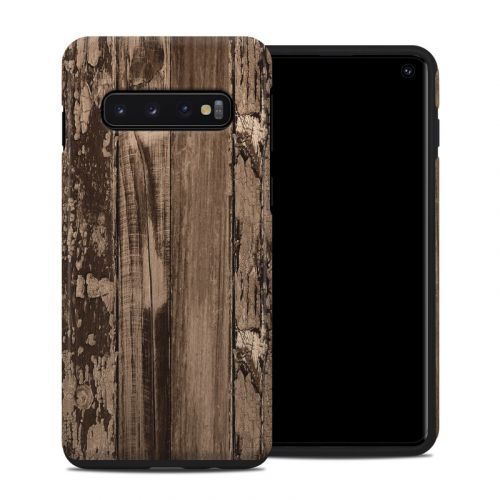 Weathered Wood Samsung Galaxy S10 Hybrid Case