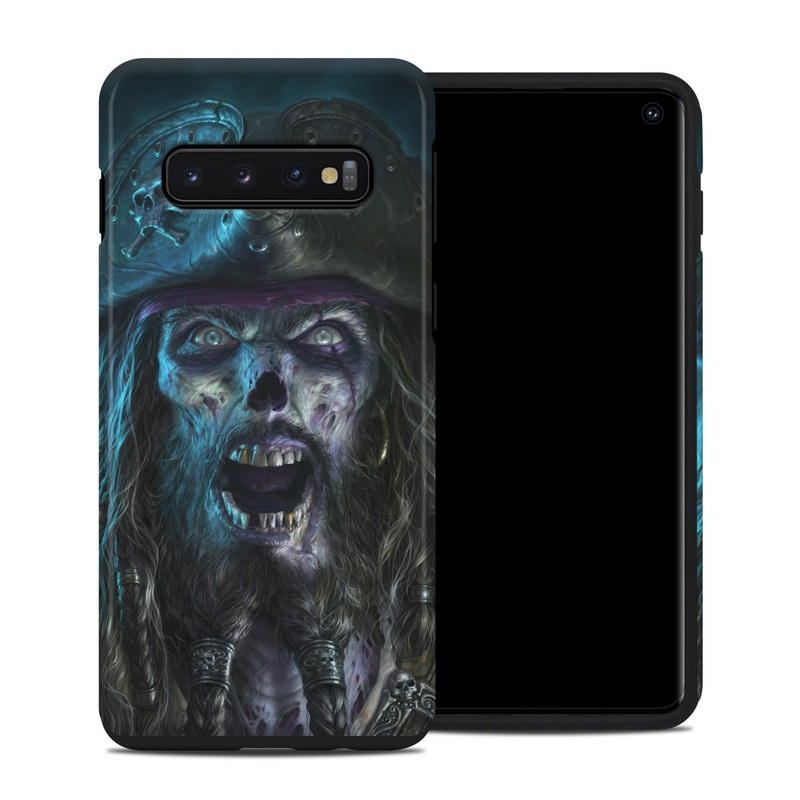 Samsung Galaxy S10 Hybrid Case design of Darkness, Illustration, Art, Ghost, Fictional character, Beard with black, white, blue, gray colors