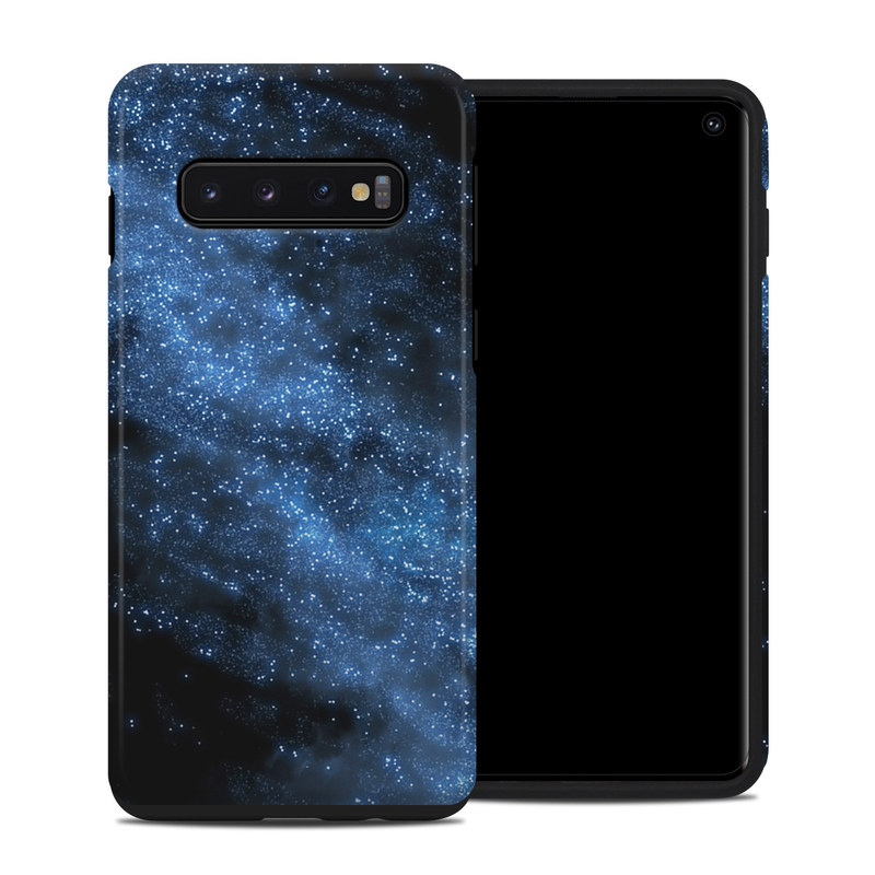 Samsung Galaxy S10 Hybrid Case design of Sky, Atmosphere, Black, Blue, Outer space, Atmospheric phenomenon, Astronomical object, Darkness, Universe, Space with black, blue colors