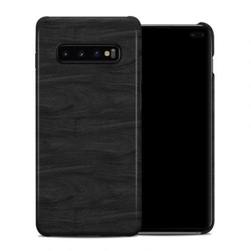 Black Woodgrain Samsung Galaxy S10 Plus Clip Case