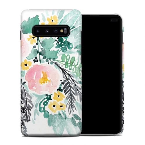 Blushed Flowers Samsung Galaxy S10 Plus Clip Case