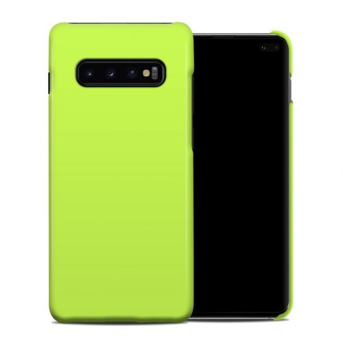Solid State Lime Samsung Galaxy S10 Plus Clip Case
