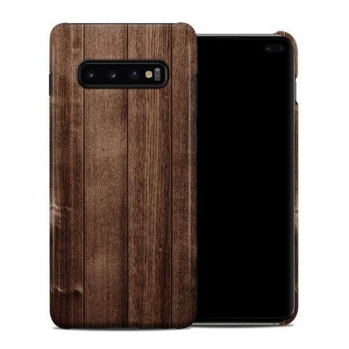 Stained Wood Samsung Galaxy S10 Plus Clip Case