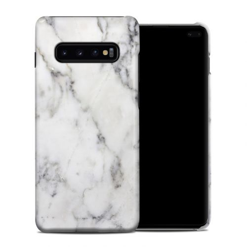 White Marble Samsung Galaxy S10 Plus Clip Case