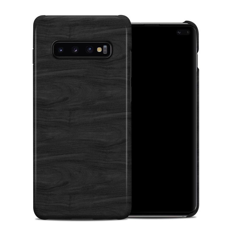 Samsung Galaxy S10 Plus Clip Case design of Black, Brown, Wood, Grey, Flooring, Floor, Laminate flooring, Wood flooring with black colors