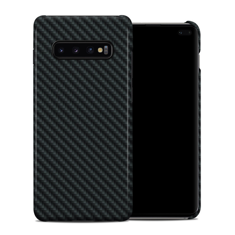 Samsung Galaxy S10 Plus Clip Case design of Green, Black, Blue, Pattern, Turquoise, Carbon, Textile, Metal, Mesh, Woven fabric with black colors