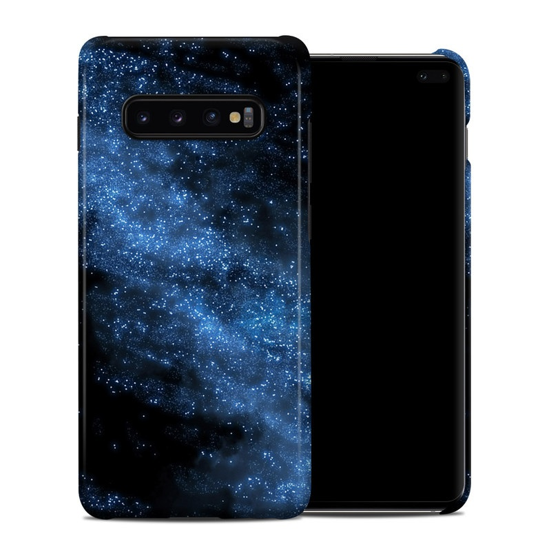 Samsung Galaxy S10 Plus Clip Case design of Sky, Atmosphere, Black, Blue, Outer space, Atmospheric phenomenon, Astronomical object, Darkness, Universe, Space with black, blue colors