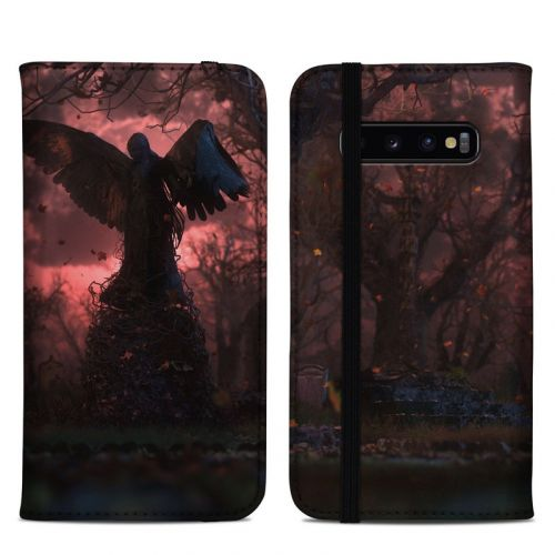 Black Angel Samsung Galaxy S10 Plus Folio Case