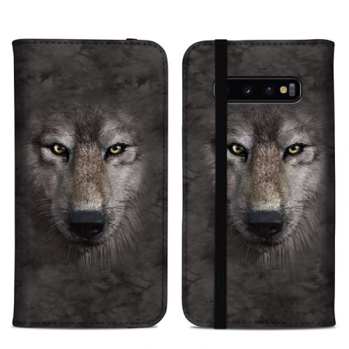 Grey Wolf Samsung Galaxy S10 Plus Folio Case