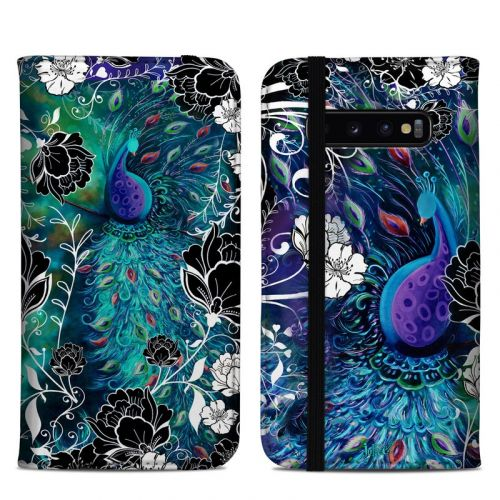 Peacock Garden Samsung Galaxy S10 Plus Folio Case