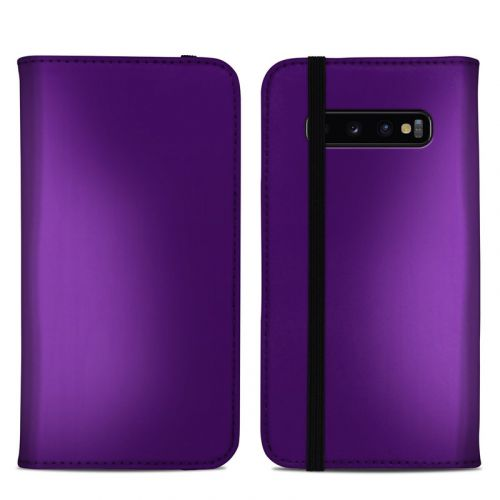 Purple Burst Samsung Galaxy S10 Plus Folio Case
