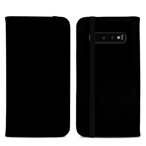 Solid State Black Samsung Galaxy S10 Plus Folio Case