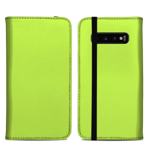 Solid State Lime Samsung Galaxy S10 Plus Folio Case