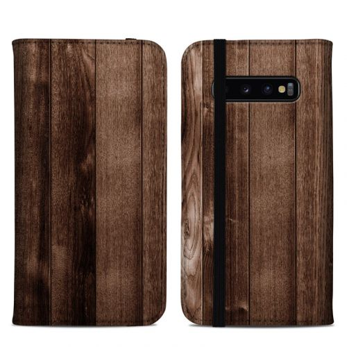 Stained Wood Samsung Galaxy S10 Plus Folio Case
