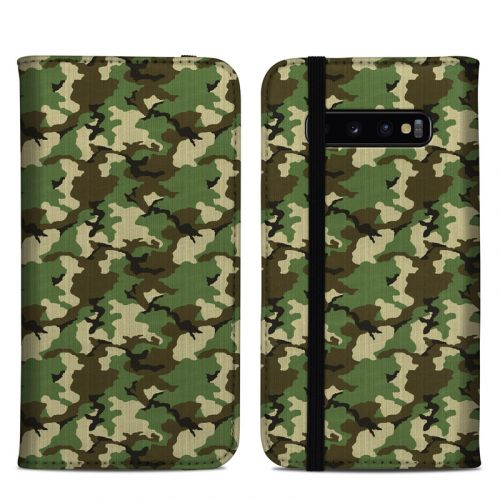 Woodland Camo Samsung Galaxy S10 Plus Folio Case