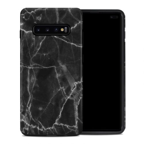 Black Marble Samsung Galaxy S10 Plus Hybrid Case