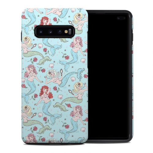 Mermaids and Roses Samsung Galaxy S10 Plus Hybrid Case