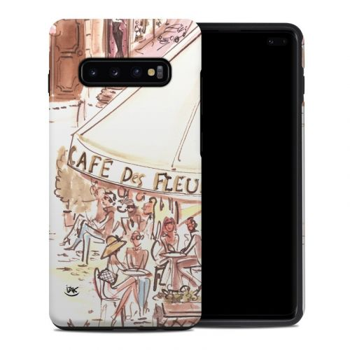Paris Makes Me Happy Samsung Galaxy S10 Plus Hybrid Case