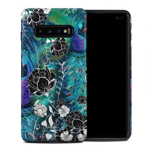 Peacock Garden Samsung Galaxy S10 Plus Hybrid Case