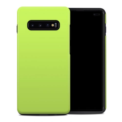 Solid State Lime Samsung Galaxy S10 Plus Hybrid Case