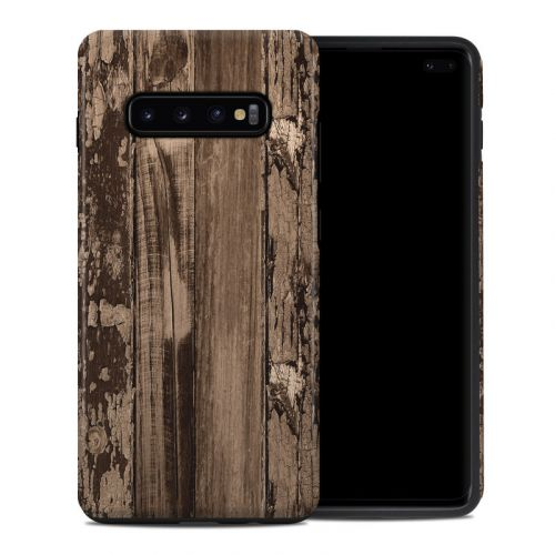 Weathered Wood Samsung Galaxy S10 Plus Hybrid Case