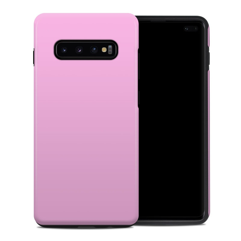 Samsung Galaxy S10 Plus Hybrid Case design of Pink, Violet, Purple, Red, Magenta, Lilac, Sky, Material property, Peach with pink colors