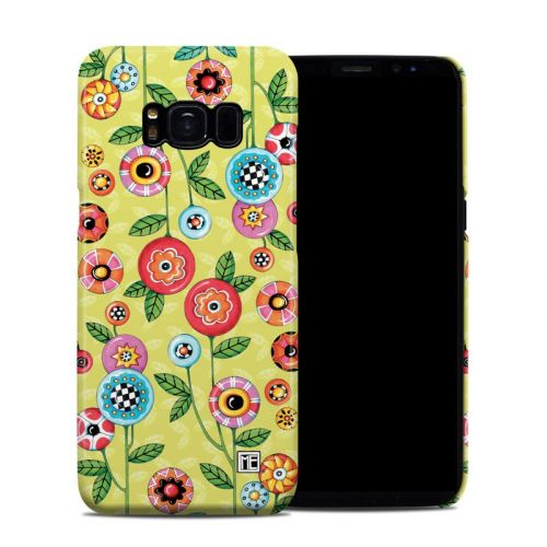 Button Flowers Galaxy S8 Clip Case