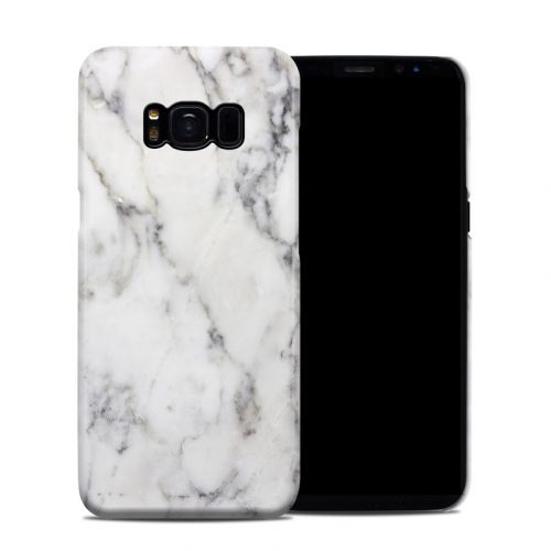 White Marble Samsung Galaxy S8 Clip Case