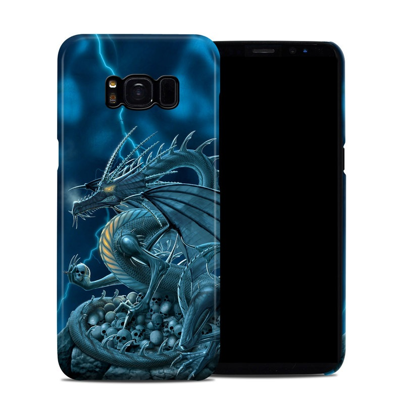 Samsung Galaxy S8 Clip Case design of Cg artwork, Dragon, Mythology, Fictional character, Illustration, Mythical creature, Art, Demon with blue, yellow colors