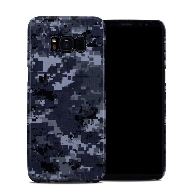 Samsung Galaxy S8 Clip Case design of Military camouflage, Black, Pattern, Blue, Camouflage, Design, Uniform, Textile, Black-and-white, Space with black, gray, blue colors