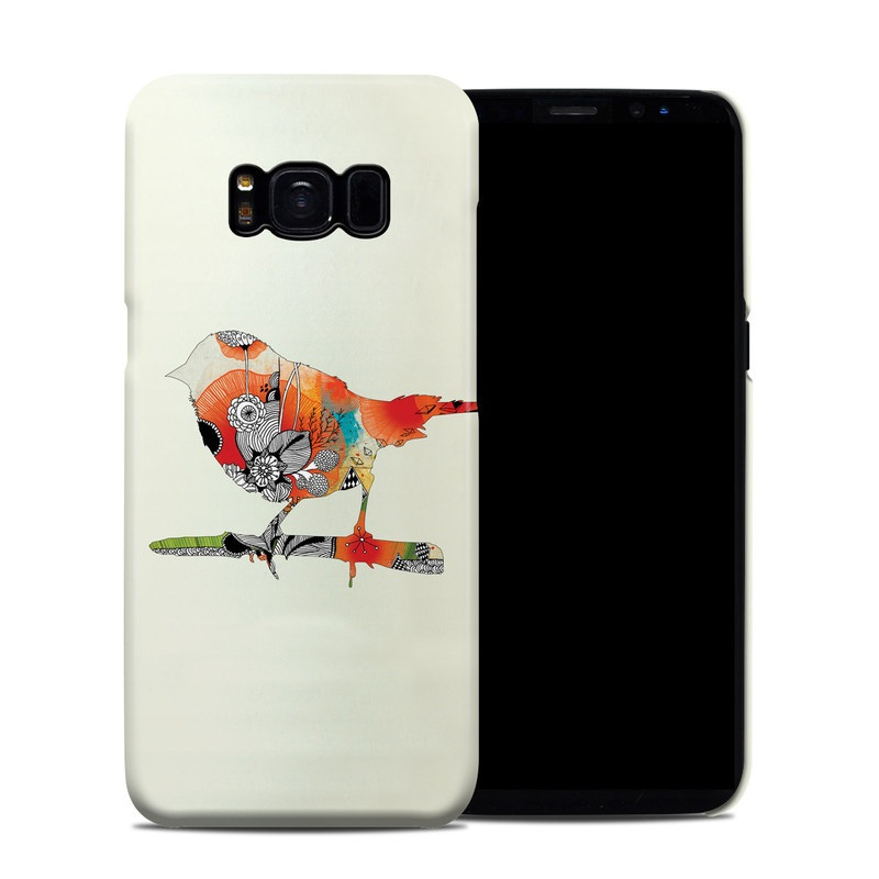 Samsung Galaxy S8 Clip Case design of Illustration, Bird, Art, Graphic design with gray, yellow, red, green, black colors