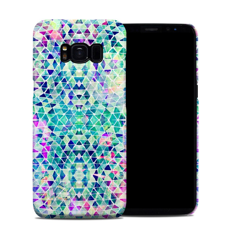 Samsung Galaxy S8 Clip Case design of Pattern, Aqua, Line, Teal, Purple, Turquoise, Design with white, blue, purple, orange, green colors