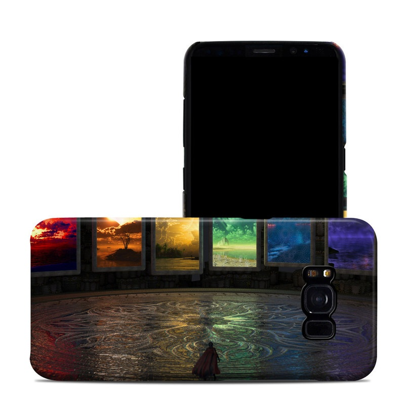 Samsung Galaxy S8 Clip Case design of Light, Lighting, Water, Sky, Technology, Night, Art, Geological phenomenon, Electronic device, Glass with black, red, green, blue colors
