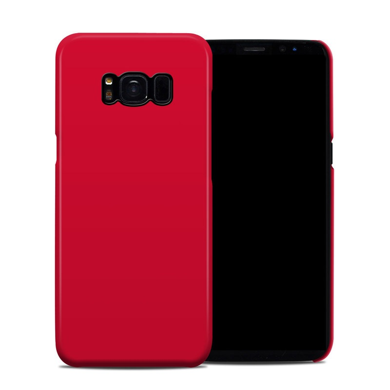 Solid State Red Samsung Galaxy S8 Clip Case