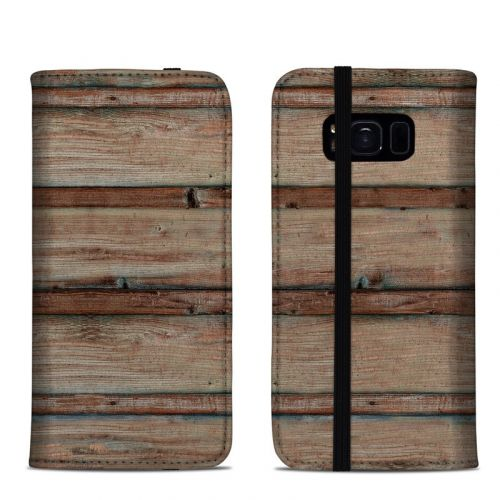 Boardwalk Wood Samsung Galaxy S8 Folio Case