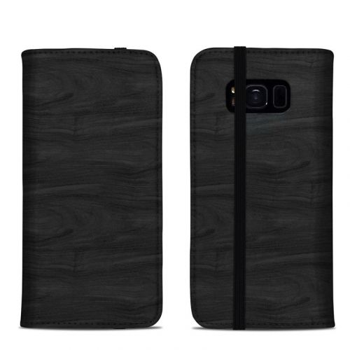 Black Woodgrain Samsung Galaxy S8 Folio Case