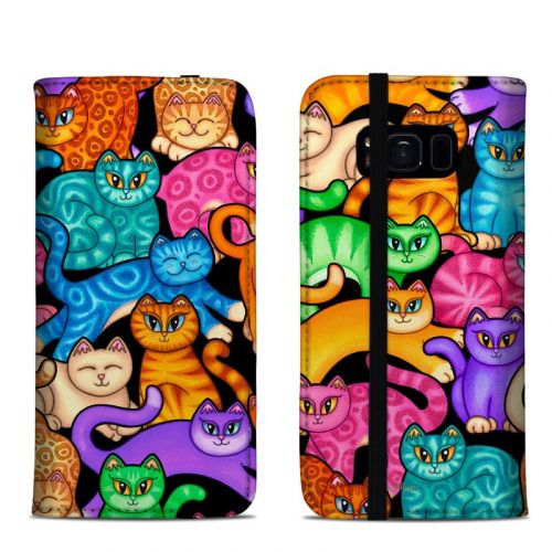 Colorful Kittens Samsung Galaxy S8 Folio Case