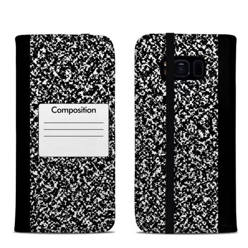 Composition Notebook Samsung Galaxy S8 Folio Case