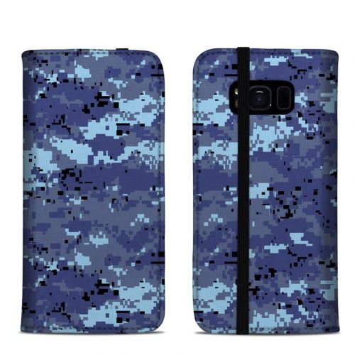Digital Sky Camo Samsung Galaxy S8 Folio Case