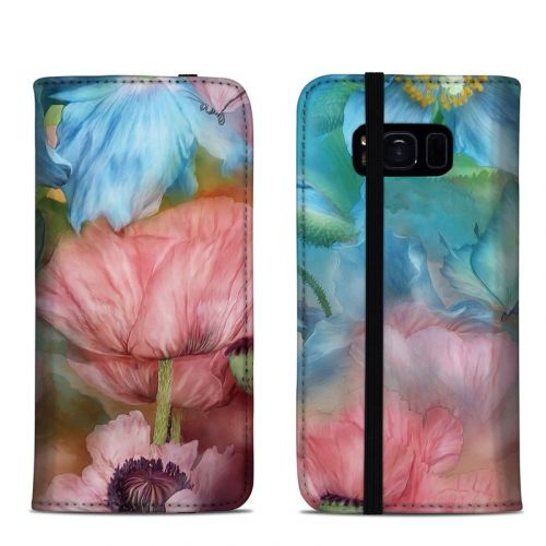 Poppy Garden Samsung Galaxy S8 Folio Case