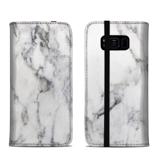White Marble Samsung Galaxy S8 Folio Case