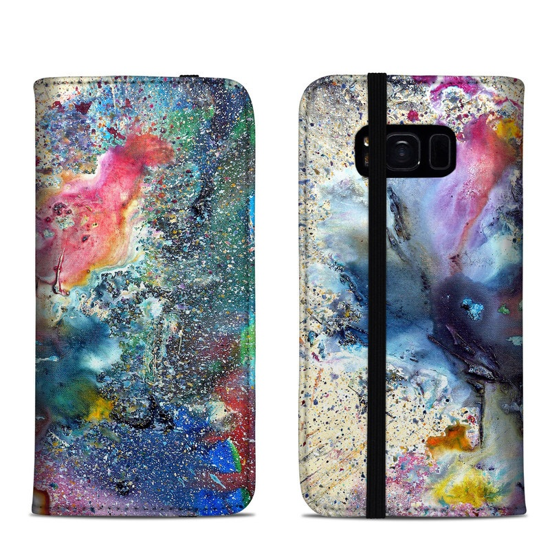Cosmic Flower Samsung Galaxy S8 Folio Case