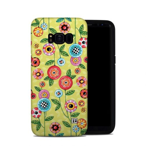 Button Flowers Galaxy S8 Hybrid Case