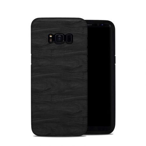 Black Woodgrain Samsung Galaxy S8 Hybrid Case