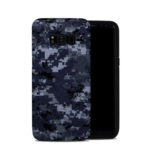 Digital Navy Camo Samsung Galaxy S8 Hybrid Case