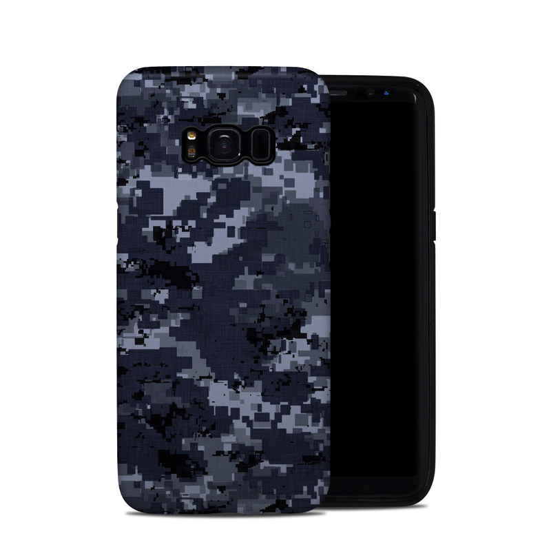Samsung Galaxy S8 Hybrid Case design of Military camouflage, Black, Pattern, Blue, Camouflage, Design, Uniform, Textile, Black-and-white, Space with black, gray, blue colors
