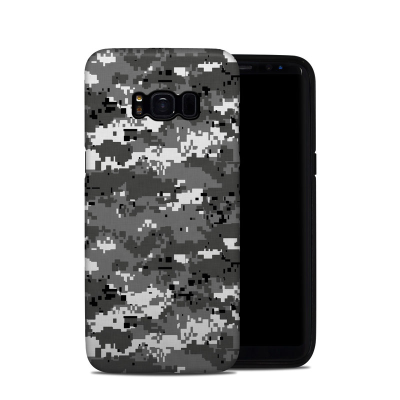 Samsung Galaxy S8 Hybrid Case design of Military camouflage, Pattern, Camouflage, Design, Uniform, Metal, Black-and-white with black, gray colors