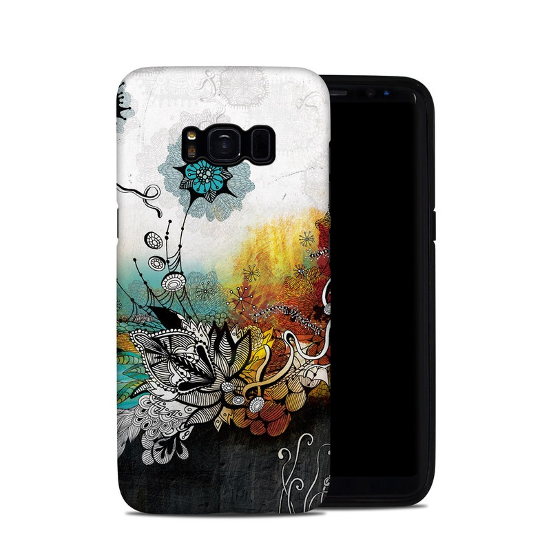 Samsung Galaxy S8 Hybrid Case design of Graphic design, Illustration, Art, Design, Visual arts, Floral design, Font, Graphics, Modern art, Painting with black, gray, red, green, blue colors